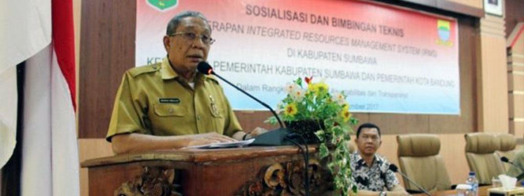 Pembukaan Sosialisasi SIRMS di Sumbawa
