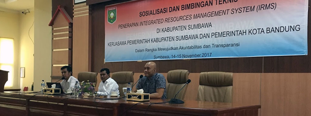 Sosialisasi dan pelatihan SIRMS di Sumbawa